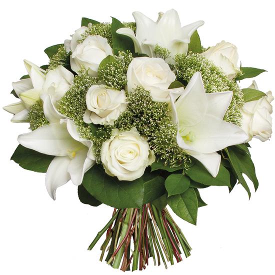 Au Coin De Ma Rue Courses En Ligne Bouquet Blanc Condoleances