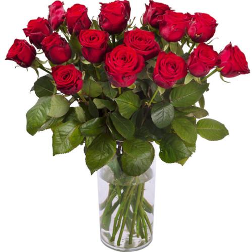 Au Coin De Ma Rue Courses En Ligne Bouquet De Roses A La Tige