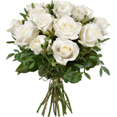 Au Coin De Ma Rue Courses En Ligne Bouquet De Roses Blanches