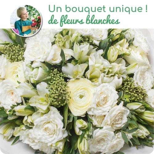 Au Coin De Ma Rue Courses En Ligne Bouquet Du Fleuriste Blanc