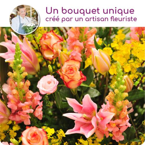 Au Coin De Ma Rue Courses En Ligne Bouquet Du Fleuriste Colore Pour Un Deuil