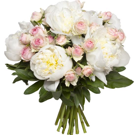 Au Coin De Ma Rue Courses En Ligne Bouquet Pivoines Roses